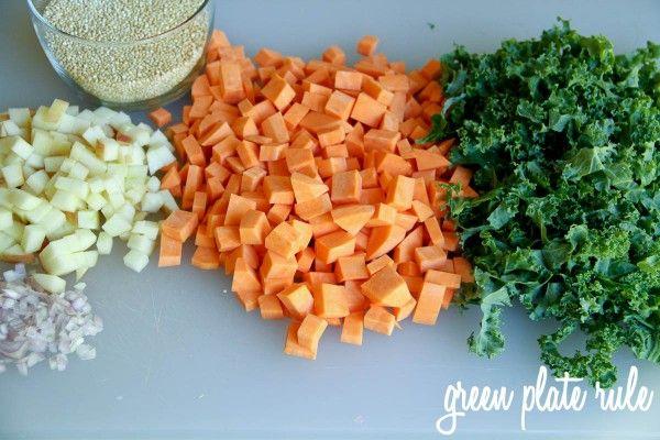 Sweet Potato Apple and Kale Quinoa Salad   Master Chef   Pinterest