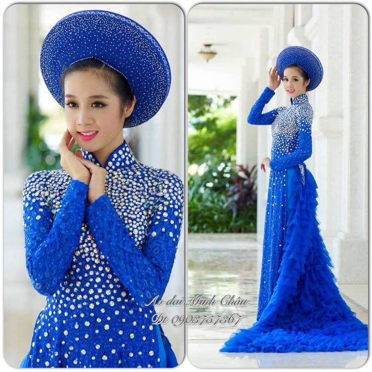 Blue Wedding Ao Dai Royal Blue Wedding Ao ...