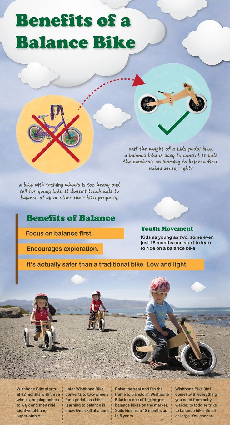Click here to learn about the benefits of a balance bike over a traditional tricycle or training wheels. http://kiddokorner.com/wishbone-design-studio/wishbone-design-3-in-1-bike.html