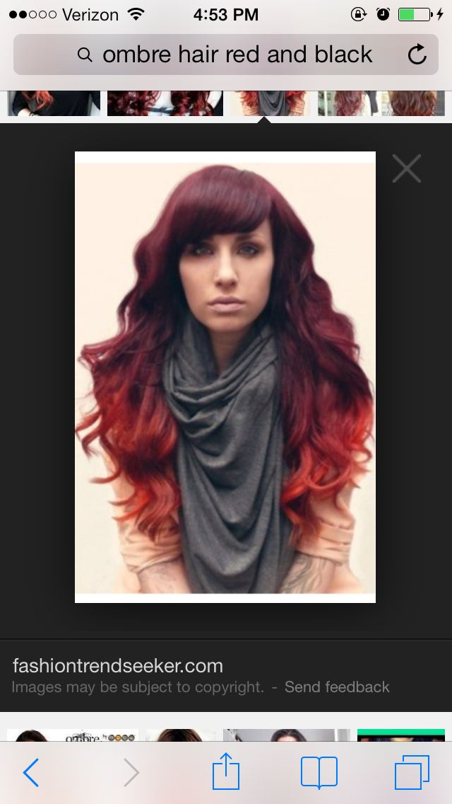 Black and red ombré | Favorite Hair Styles | Pinterest
