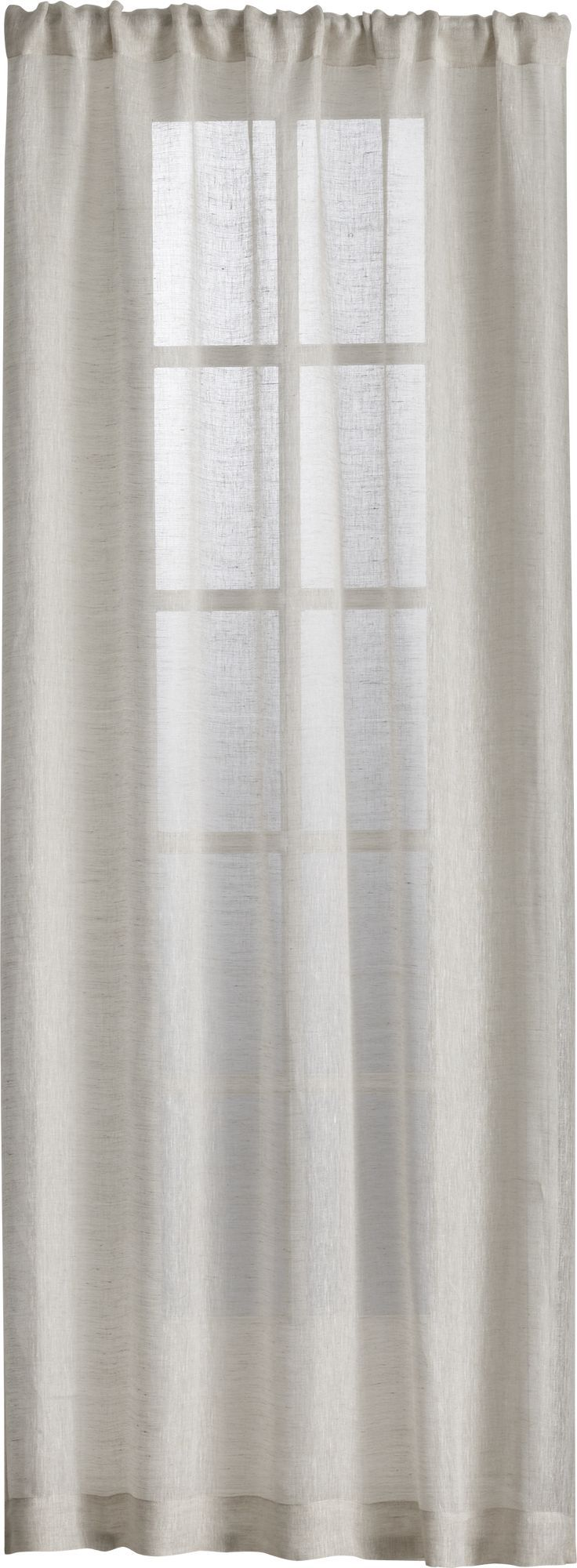 Natural linen sheer 100x108 curtain panel in curtains crate and