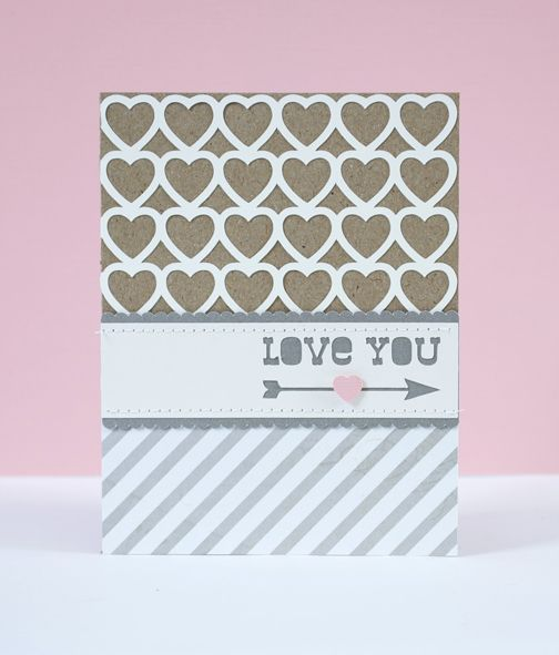 Valentine's Card. I've already got this shape in my library. Could be really cute!