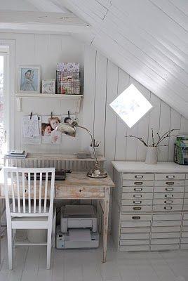 I'm So Vintage: little cottage work spaces