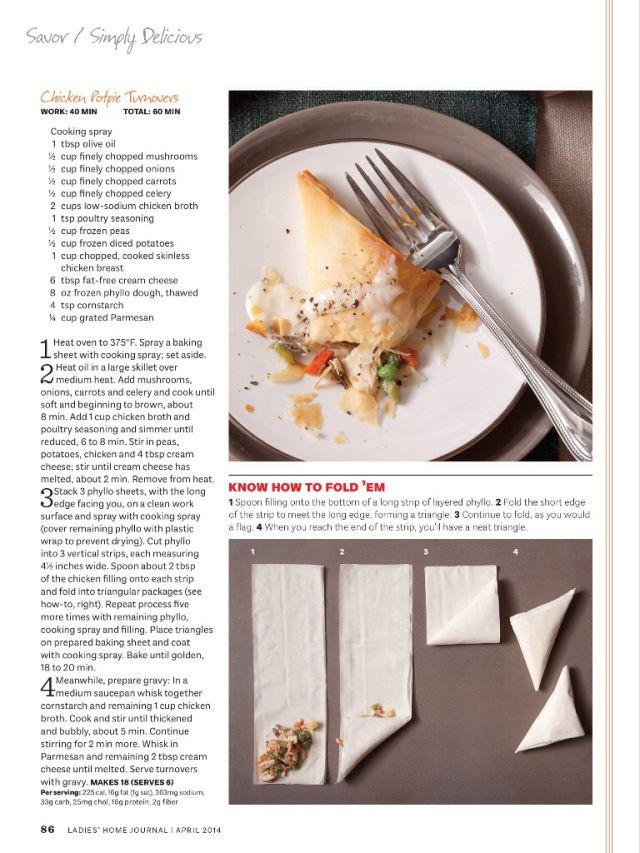 Chicken Potpie Turnovers | Everyday food | Pinterest