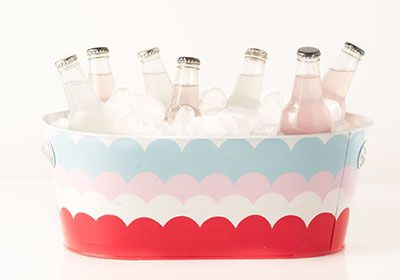 DIY this bucket with #marthastewartcrafts paints to keep your beverages stylishly cool all summer. #madaboutcolor