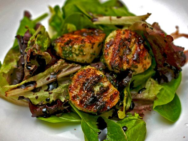 Grilled Scallops with Mint Pesto and Balsamic Syrup, Photo Credit ...