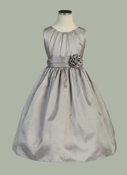 Flower Girl Dresses Charcoal Grey