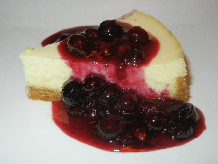 Cheesecake with Blueberry Sauce | My Cooking | Pinterest
