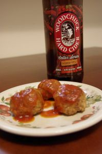 Woodchuck Smoked Apple Cider Meatballs | Cooking with Beer | Pinterest