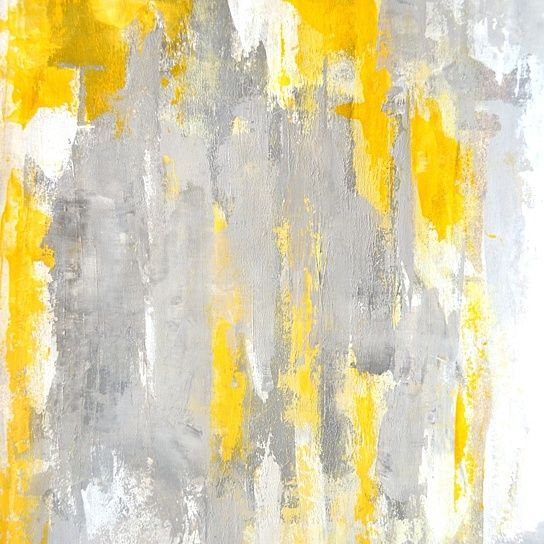 Grey And Yellow Abstract On Opensky Grey And Yellow Art
