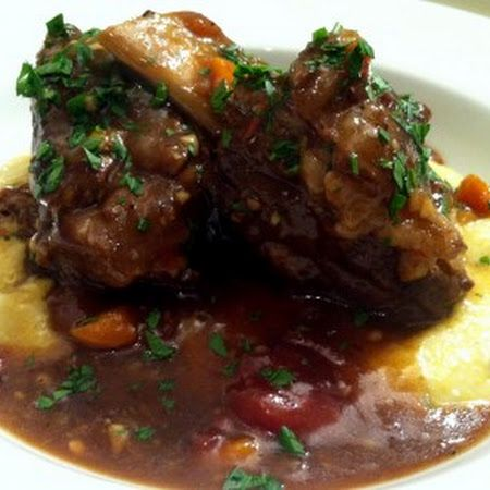 Stout Braised Short Ribs with Creamy Jalapeno Polenta
