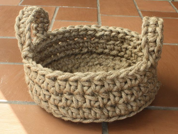 Easy Crochet Rope Basket PATTERN Macrame Jute Various Sizes. $3.99 ...