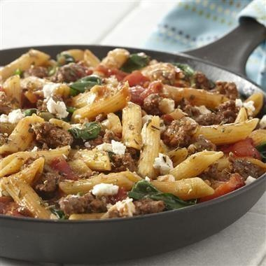 Greek Style Skillet Supper | niftynifty | Pinterest