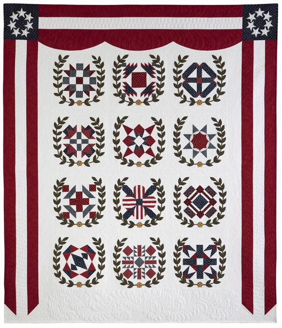Remembering Almo: Kansas City Star's free block of the month pattern for 2014 honors World War One veterans. Striking design! http://www.pickledish.com/2014/01/19/2014-block-of-the-month-quilt-debuts-and-free-block-1-download/