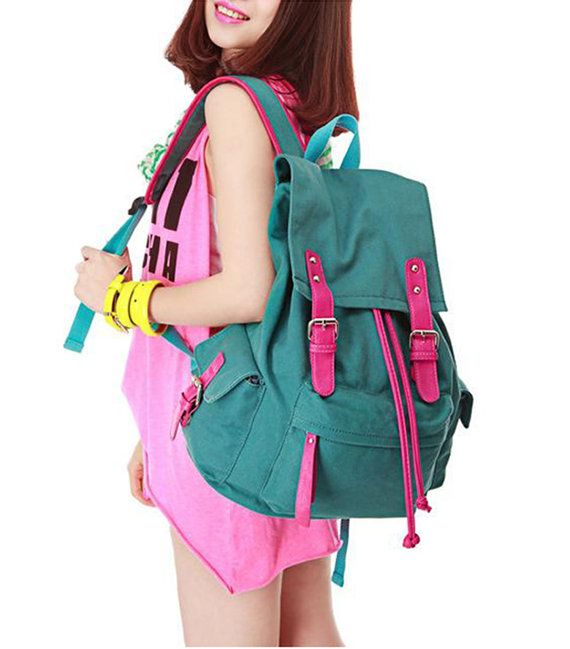 Fashionable backpack, backpack for middle school students, retro ...