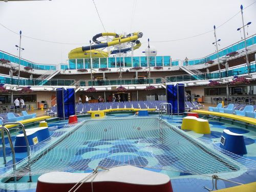 carnival dream waves pool carnival cruise vacation