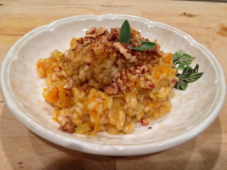 Butternut squash risotto with leeks, fresh sage, and toasted walnuts ...