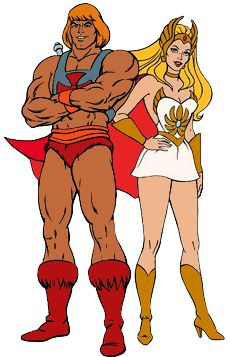 Shera and He-man Masters of the universe