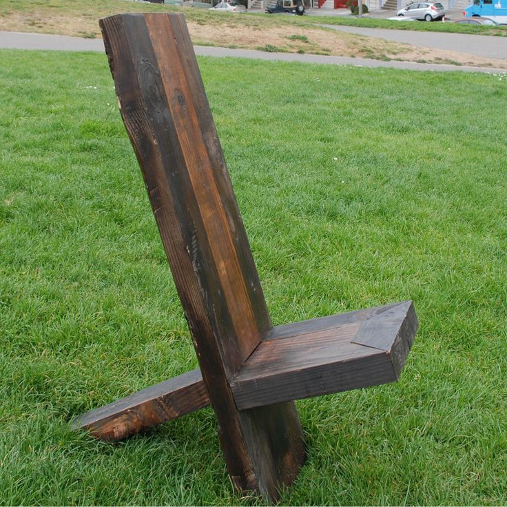 Natural Reclaimed Wood X Chair Patio Outdoor Furniture