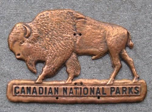 1925 Canadian National Parks Pass Buffalo
