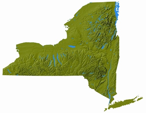 Simple New York State Topographic Map  Jamestown NY