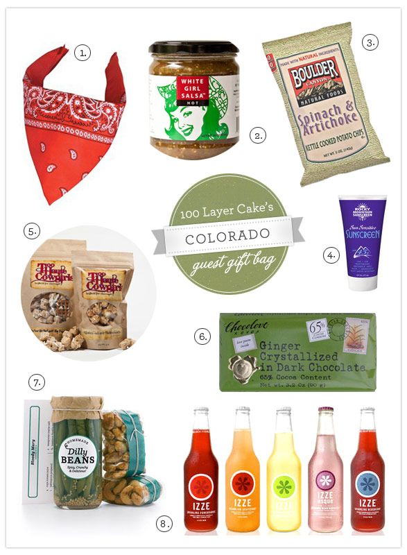 Colorado welcome bag ideas