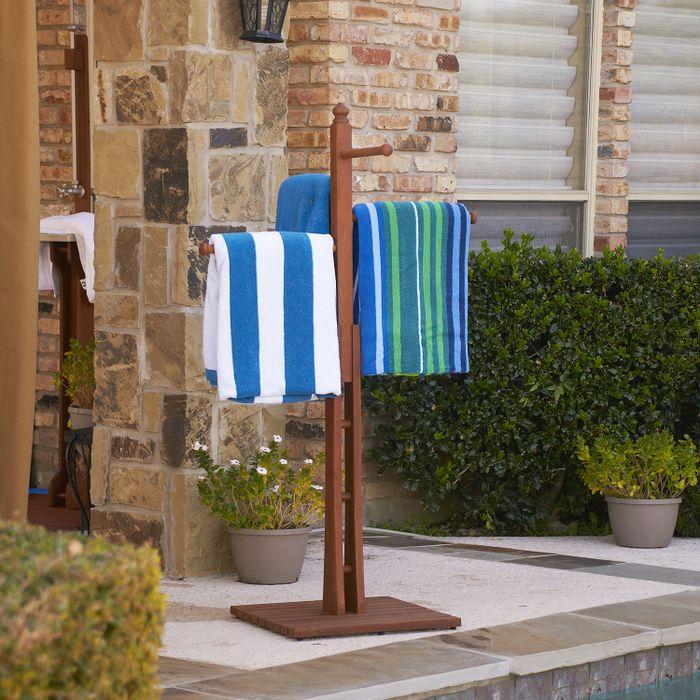 Eucalyptus Outdoor Towel Rack Pool Ideas Pinterest