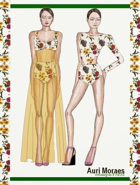 Auriele (desenhos de Moda): MODA PRAIA