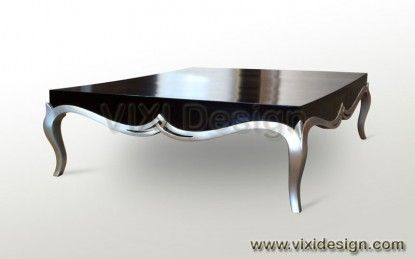 High gloss black and silver i dreamed a dream pinterest - Table basse design noire ...