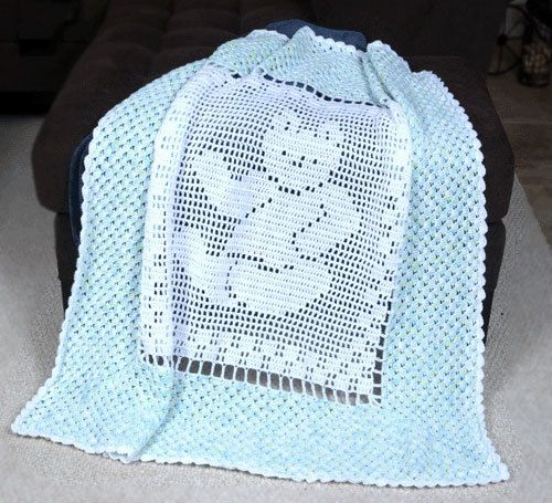 Free Teddy Bear Crochet Afghan Pattern : 0700 Teddy Bear Baby Blanket Crochet Pattern