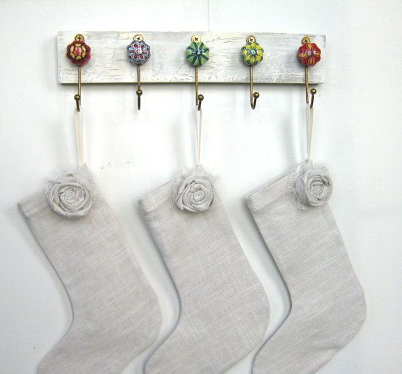 Christmas stocking holder by auntdedesbasement on etsy