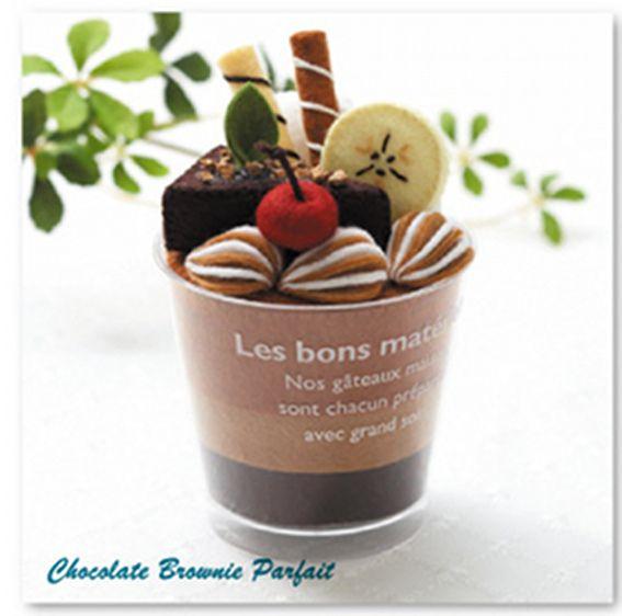 Felt Parfait Kit - chocolate brownie parfait by Lit'l Brown Bird, via ...