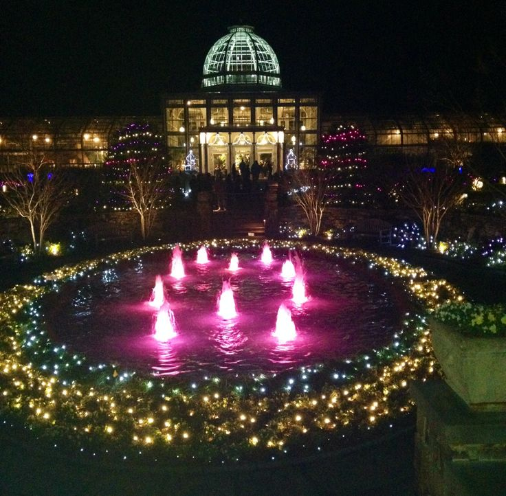 Lewis Ginter Gardens Festival of Lights!   Oh The Places ...