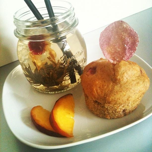 ... rose petal & iced Jasmine tea. #healthyfood #snack - @melissazino- #