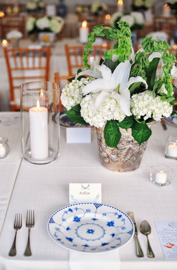 Pin by donna hawk long on rehearsal dinner pinterest for Dinner table flower arrangements