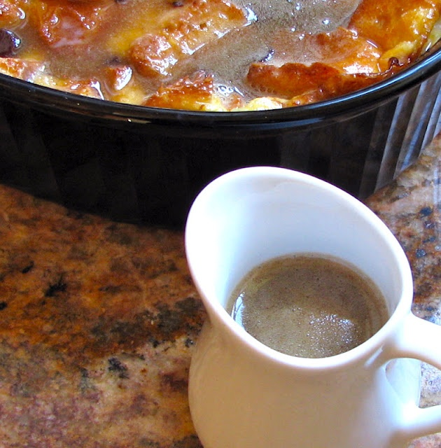 Chocolate Bread Pudding with Brown Sugar and Whisky Sauce