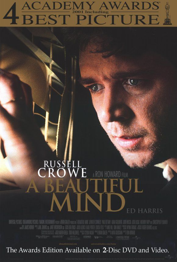 a beautiful mind the movie A beautiful mind stars russell crowe as nash, and jennifer connelly as his wife, alicia, who is pregnant with their child when the first symptoms of his disease become apparent it tells the story of a man whose mind was of enormous service to humanity while at the same time betrayed him with frightening delusions.
