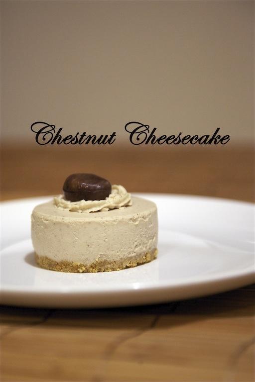 Chestnut Cheesecake   Cheesecake   Pinterest