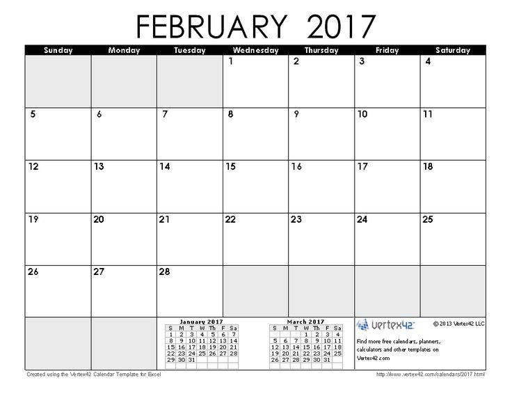 Best 25+ February 2017 calendar printable ideas on Pinterest ...