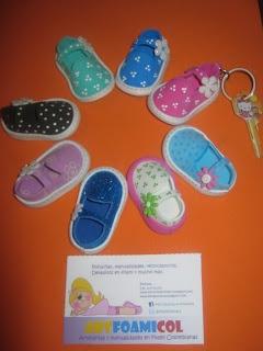 Mis Fofuchas Artfoamicol Moldes Patrones Diseños: Zapatos Fofuchos Para LLavero Foamy Goma-eva Artfoamicol Moldes y Patrones