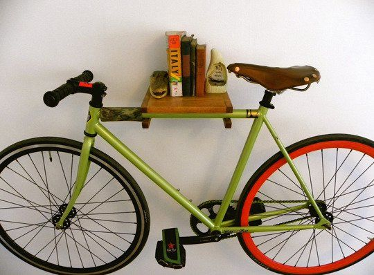 5 handmade bike shelves racks for small spaces - Bike storage for small spaces image ...