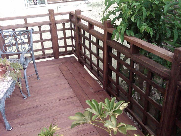 Asian inspired deck railing home garden pinterest for Japanese decking garden