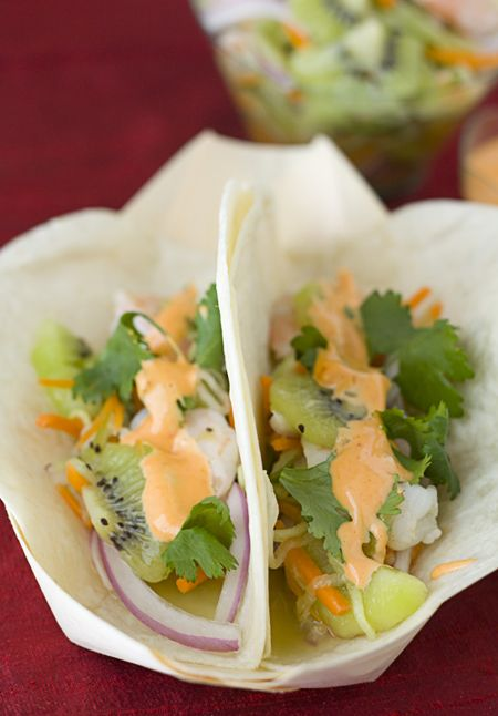 Kiwi Shrimp Banh Mi Tacos - not a huge fan of kiwi but my brother ...