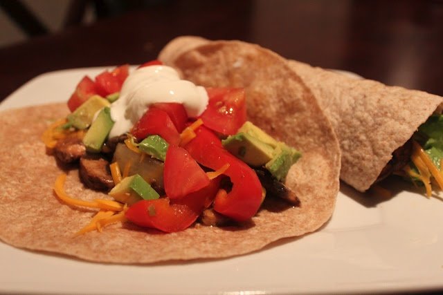 Portabella Mushroom Fajitas - Vegetarian Meal Replacement