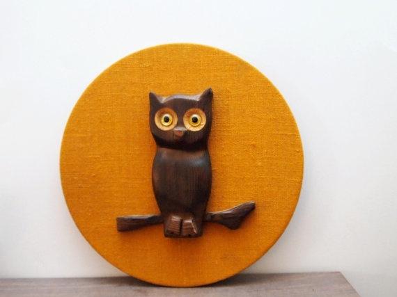 {Hoot Owl} vintage hand-carved wood owl www.etsy.com/...