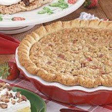 Sour Cream Rhubarb Pie | Pie in your eye! | Pinterest