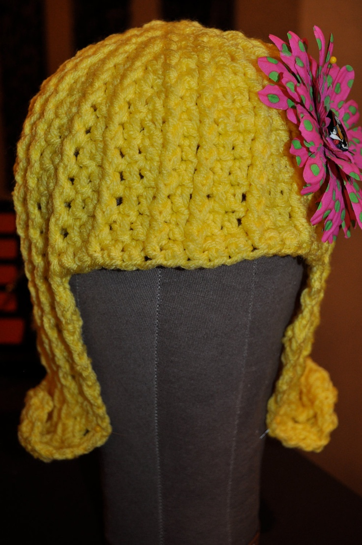 Sally Stitch - Crochet Bright Yellow Wig Clothing DYI Pinterest