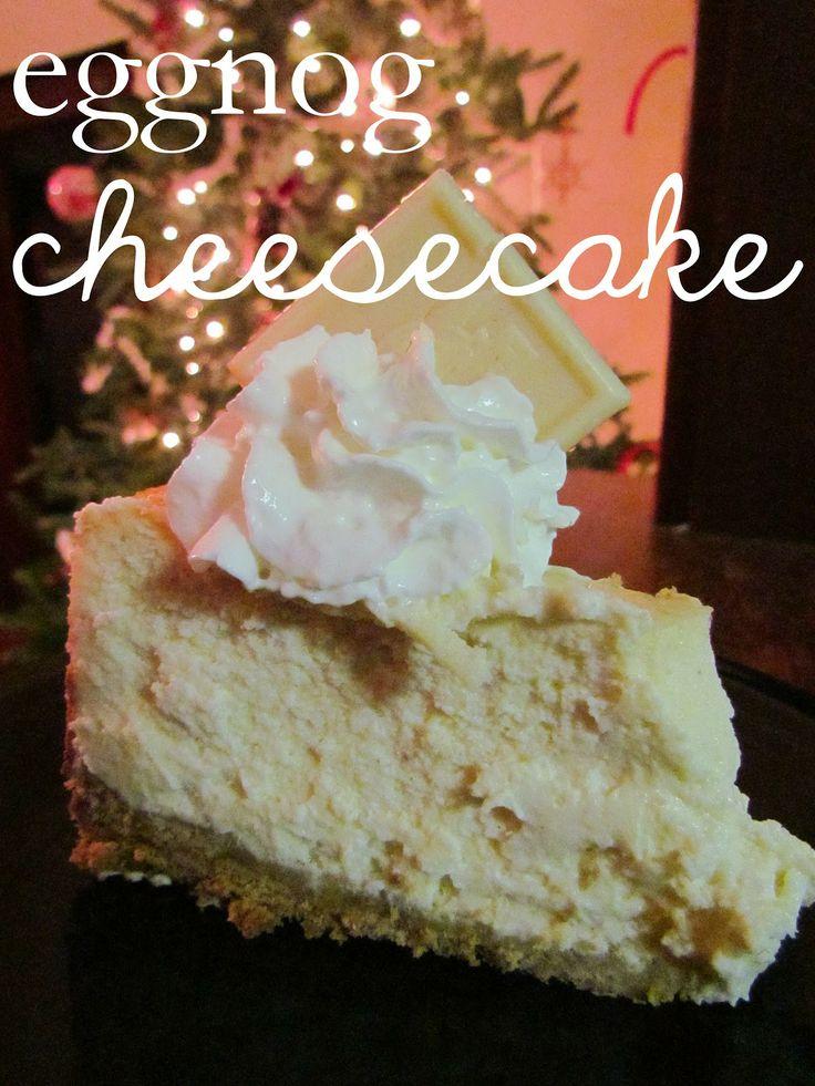 Eggnog Cheesecake | Nom Nom Nom | Pinterest
