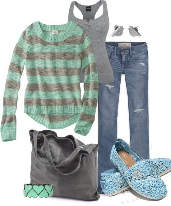 Outfit TOMS shoes