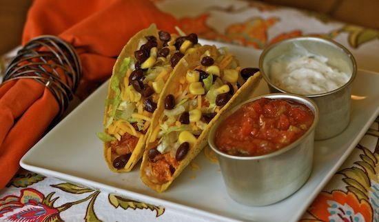 Corn and Black Bean Chicken Tacos | Mexican Food | Pinterest